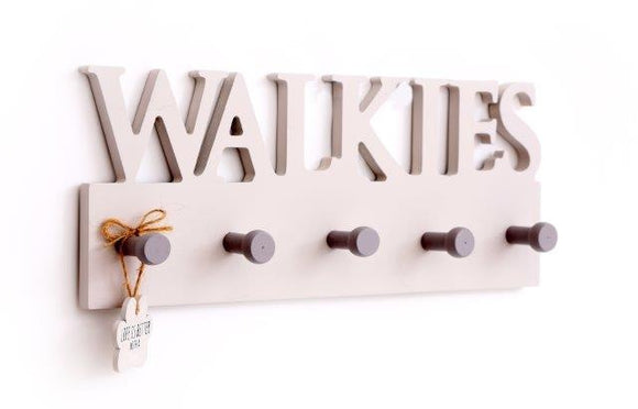 Walkies Dog Wooden Wall Hooks