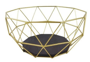 Geometric Golden Wire Bowl