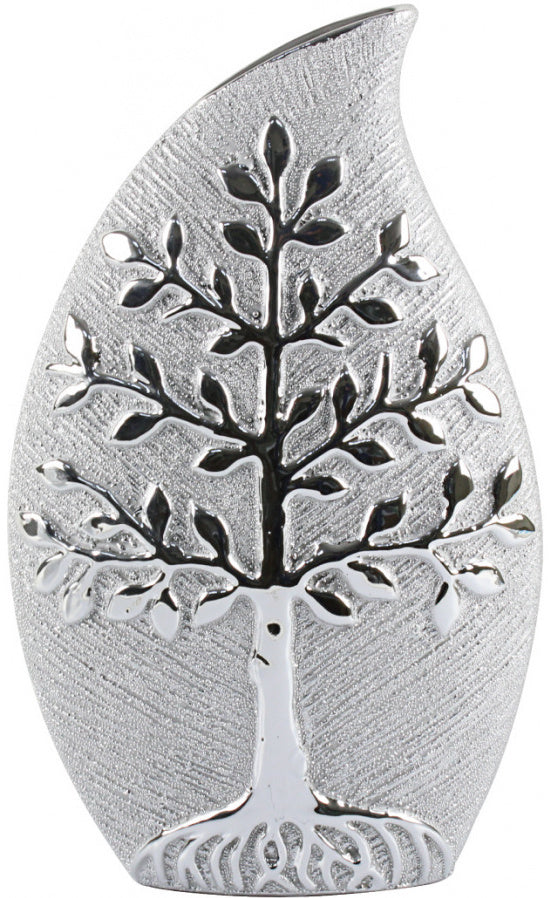 Silver Tree Of Life Vase