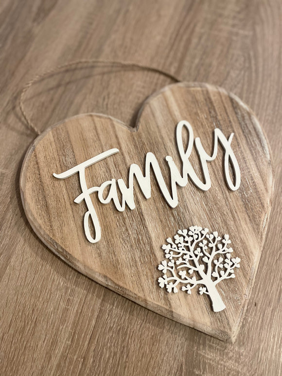 Family Tree heart hanger