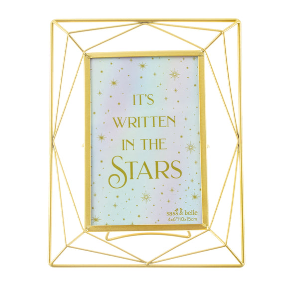 Trapeze Gold photo frame