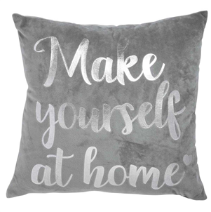 'Make yourself at home' Velvet Cushion