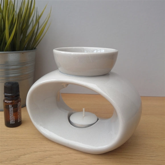 Light Grey Ceramic Wax Burner