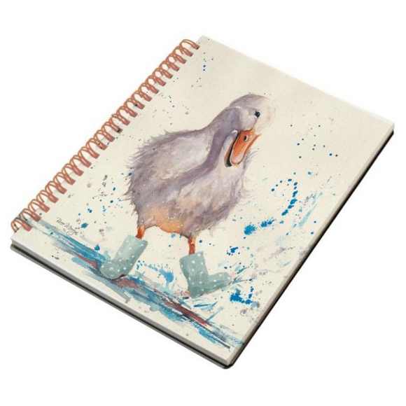 Deirdre Duck Spiral A5 Notebook