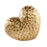 Gold Heart Block 17cm