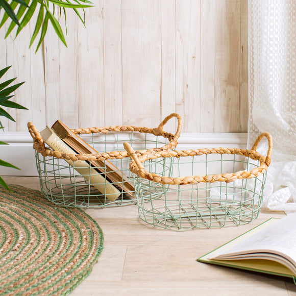 Green Wire Storage Basket