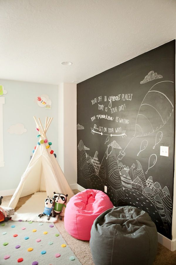 kids bedroom with beanbags