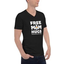 Load image into Gallery viewer, Black Unisex Short Sleeve FMH V-Neck T-Shirt