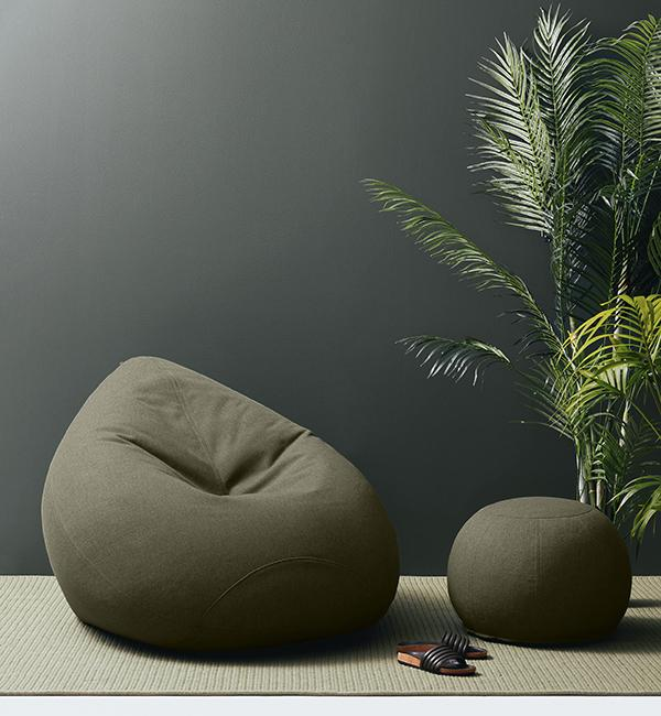 Kyoto XL Bean Bag & Footstool - Indoor X Out Collection