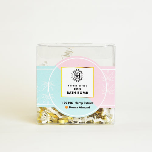 BZZZ CBD Bath Bomb, Honey Almond
