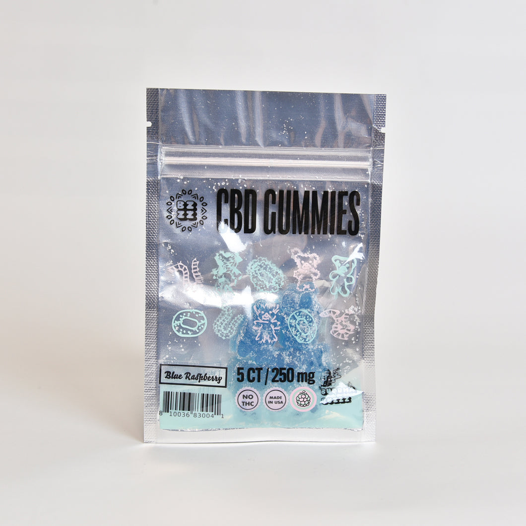 CBD Gummy 250mg, Blue Raspberry