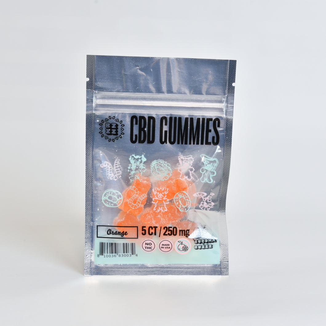 CBD Gummy 250mg, Orange