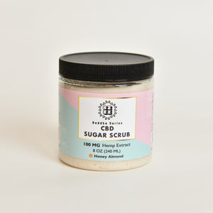 CBD Sugar Scrub 100mg, Honey Almond