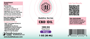 Grape Flavor CBD Oil 30ML, 1000MG