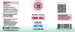 Mint Flavor CBD Oil 30ML 1000MG
