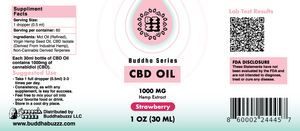 Strawberry Flavor CBD Oil 30ML 1000MG