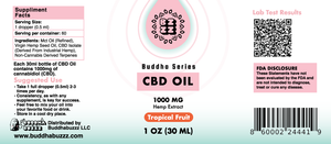 Tropical Fruit Flavor CBD Oil 30ML 1000MG