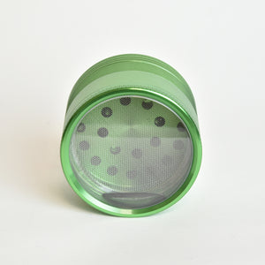 BuddhaBuzzz  Aluminum Clear Bottom Herb Grinder/Crusher - zx15