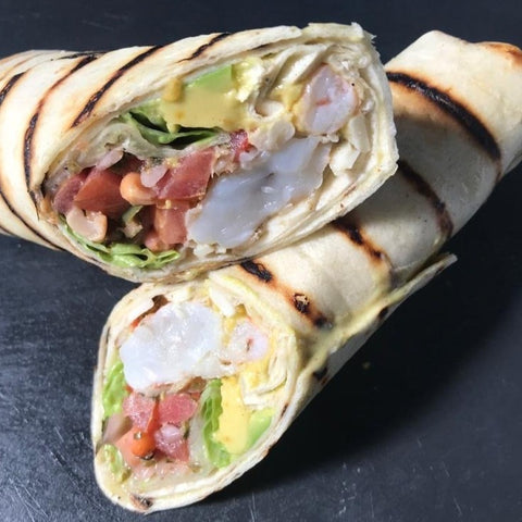 Mexican Shrimp Wrap