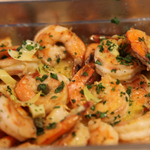 Grilled Garlic Shrimp With Lemon Beurre Blanc Sauce & Capers