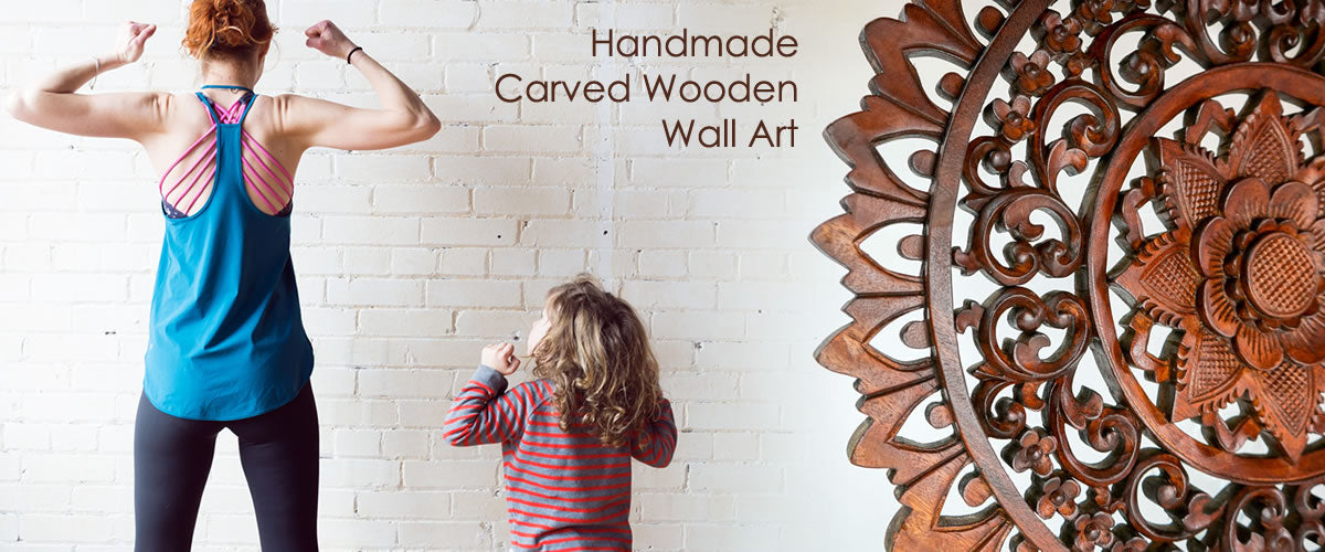 Interior Design Trends 2020 Handmade Carved Wooden Wall Art and Designer Solid Hardwood Furniture Easternada