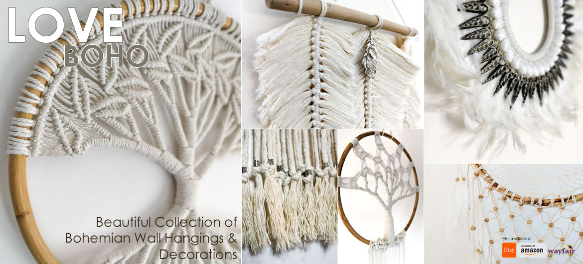 Handmade Bohemian Macramé Wall Hangings Wedding Chic Decorations Accessories Hippy