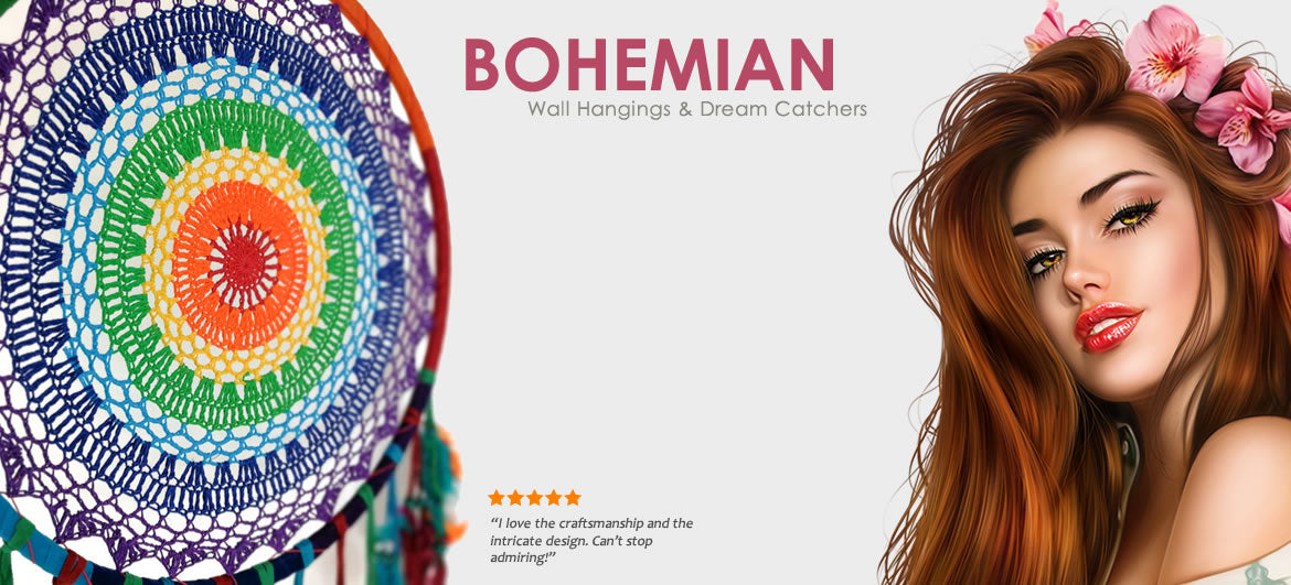 Bohemian Wall Hangings and Dream Catchers Easternada