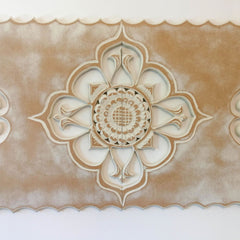 Handmade Carved Wooden Mandala Decorative Wall Art Sculpture headboard