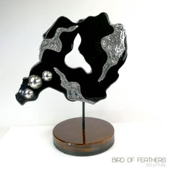 Hand made Decorative Solid Wood and Stainless Steel Sculpture - Easternada
