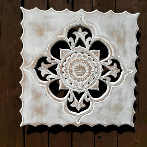 Handmade Carved Wooden Mandala Decorative Wall Art Sculpture