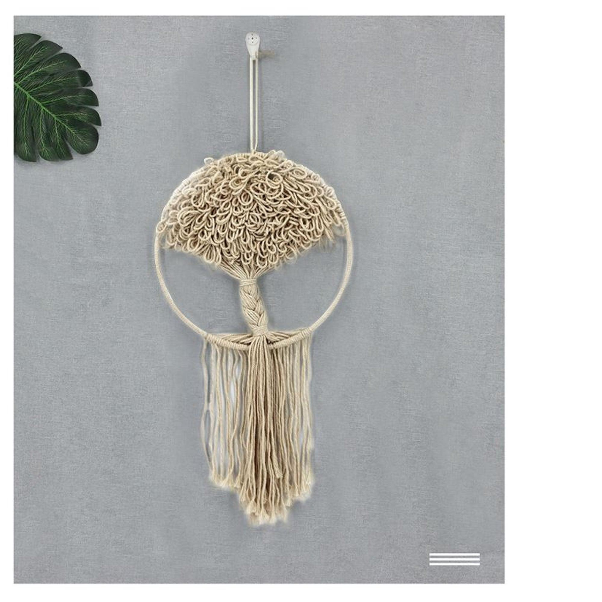 Bohemian Style Handmade Decorative Hanging Macramé Dream Catcher: Tree of Life