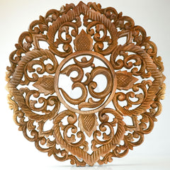 Decorative Carved Wood Wall Art Panel Easternada