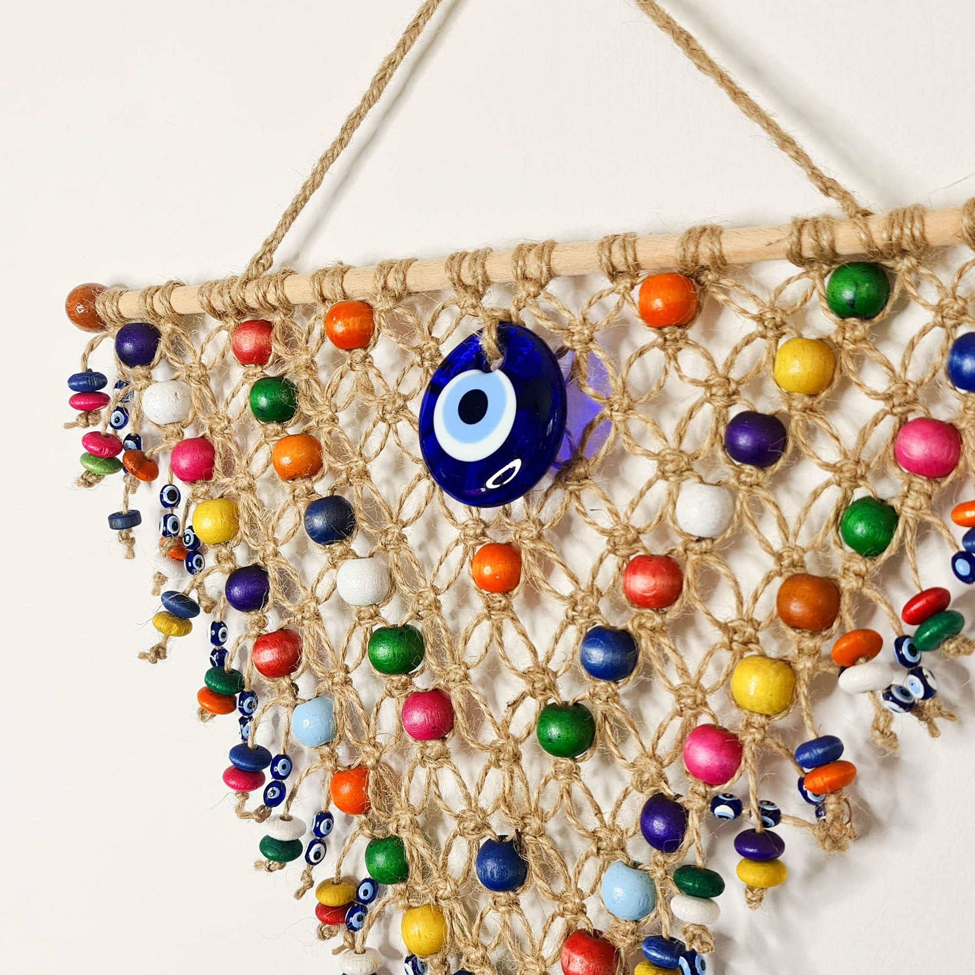 Nazar Turkish Evil Eye Bohemian Macramé Hanging Dream Catcher
