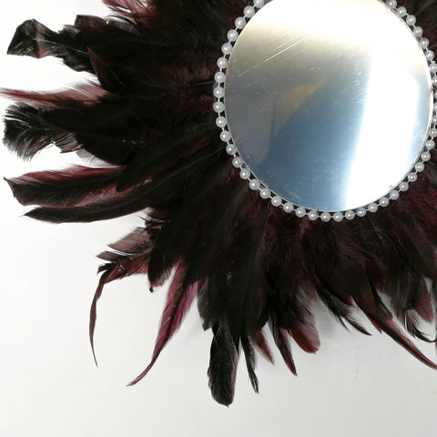 Juju Feather Vanity Wall Mirror Bohemian Style Handmade