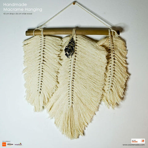 Bohemian Style Feather Handmade Decorative Macrame Wall hanging