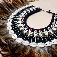 Bohemian Style Feather Sea Shells Handmade Decorative Costume Macrame Necklace Jujuhat