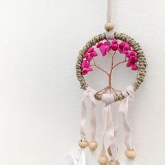 Bohemian Macrame Car Wall Hanging Dream Catcher - Tree of Life