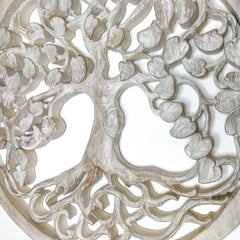 Hand Carved Wooden Decorative Panel Art Tree of Hope