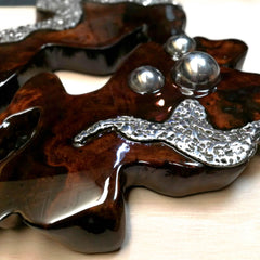 Hand made Decorative Solid Wood and Stainless Steel Sculpture