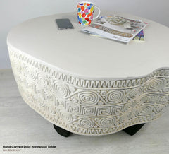 Solid Wood Designer Furniture Center Coffee Table - Easternada