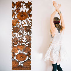 Handmade Carved Wooden Decorative Wall Panel Head Board