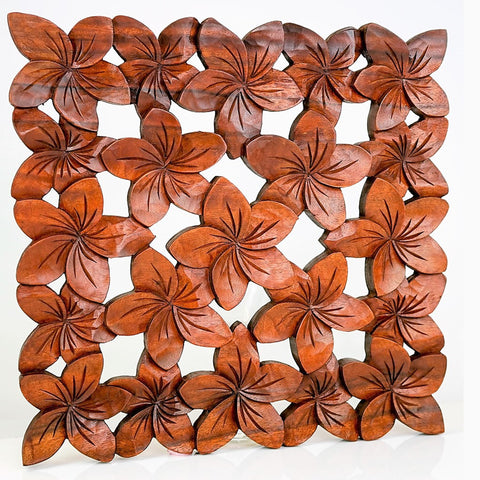 Hand Carved Wooden Decorative Panel - Easternada