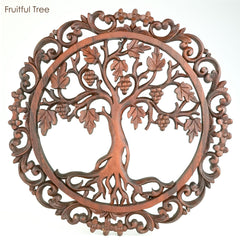 Handmade Carved Wooden Decorative Art Panel Tree of Love