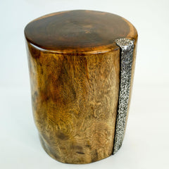 Designer Furniture Solid Wood Log Tree Stump Stool Center Side Table