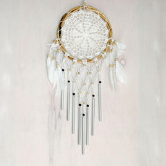 Bohemian Macrame Hanging Dream Catcher Garden Wind Chime - Easternada
