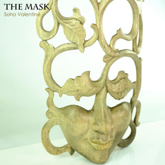Handmade Carved Wooden Decorative Wall Art Italian Mask Soho Valentine - Easternada