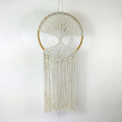 Bohemian Macrame Hanging Dream Catcher Tree of Life Large - Easternada