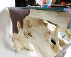 Reclaimed Teak Root Console Table - Easternada