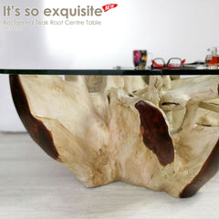 Reclaimed Teak Root Solid Hardwood Coffee Center Table - Easternada
