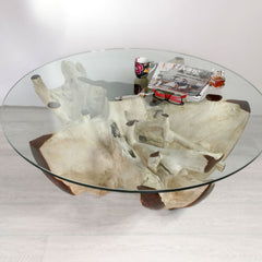 Reclaimed Root Coffee Center Table - Easternada